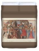 """Station Of The Cross No. 5: """"jesus Is Assisted In Carrying His Cross Duvet Cover"""