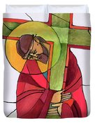 Stations Of The Cross - 02 Jesus Accepts The Cross - Mmjcs Duvet Cover
