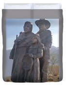 Statuary Dedicated To The American Indian Duvet Cover