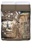 Statue At Angkor Thom Duvet Cover