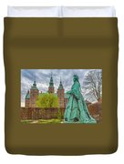 Statue At Rosenborg Castle Duvet Cover