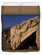 Statue In The Temple Of Domitian Duvet Cover