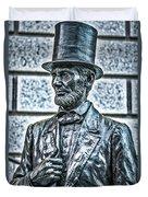 Statue Of Abraham Lincoln #7 Duvet Cover