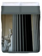 Statue Of Abraham Lincoln Is Seen Duvet Cover