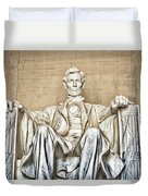 Statue Of Abraham Lincoln - Lincoln Memorial #3 Duvet Cover