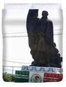Statue Of Benito Pablo Juarez Garcia  Duvet Cover