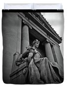 Statue Of Justice At The Courthouse In Memphis Tennessee Duvet Cover