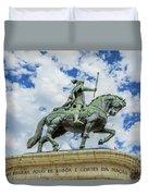 Statue Of King John I Lisbon Duvet Cover