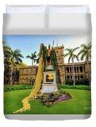 Statue Of, King Kamehameha The Great Duvet Cover