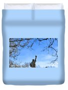 Statue Of Liberty Back View  Duvet Cover