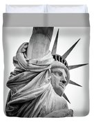 Statue Of Liberty, Lateral Portrait Duvet Cover