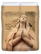 Statue Of Mary Closeup Duvet Cover