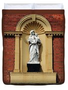 Statue Of Mother And Child Duvet Cover