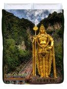 Statue Of Murugan Duvet Cover