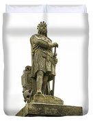 Statue Of Robert The Bruce Stirling Castle Duvet Cover