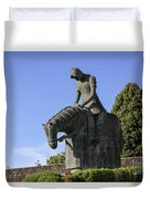 Statue Of St Francis Of Assisi  Duvet Cover
