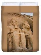 Statues At Abu Simbel Duvet Cover