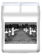 Stay Between The Lines Bw Duvet Cover