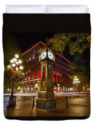 Steam Clock In Historic Gastown Vancouver Bc Duvet Cover