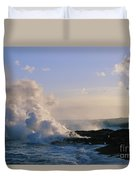 Steam Cloud And Lava Duvet Cover
