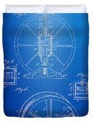 Steam Engine Blueprint Duvet Cover