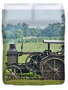 Steam Engine Plowing Duvet Cover