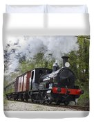 Steam Locomotive 3298 In Cornwall Duvet Cover