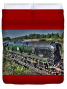 Steam Locomotive 34027 The Taw Valley Duvet Cover