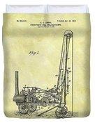 Steam Powered Oil Well Patent Duvet Cover