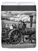 Steam Powered Tractor - Paint Bw Duvet Cover