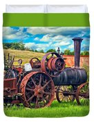 Steam Powered Tractor - Paint Duvet Cover