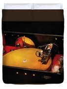 Steam Punk - Hey Dj Make Some Noise Cine-music System Duvet Cover by Mike Savad