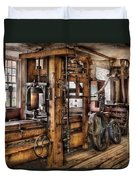 Steam Punk - The Press Duvet Cover by Mike Savad