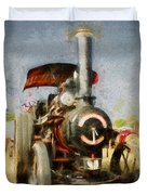 Steam Traction Engine Duvet Cover