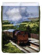 Steam Train 2 Oil Painting Effect Duvet Cover