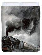 Steam Train At Garsdale - Cumbria Duvet Cover