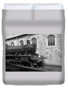 Steam Train In Station Duvet Cover