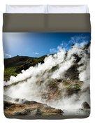Steaming Hot Springs In Reykjadalur Iceland Duvet Cover