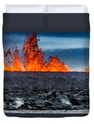 Steaming Lava And Plumes Duvet Cover