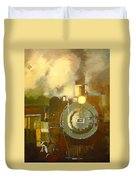 Steaming Up Mining Country Duvet Cover