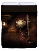 Steampunk - Boiler Gauge Duvet Cover by Mike Savad