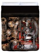 Steampunk - Check The Gauges  Duvet Cover by Mike Savad