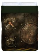 Steampunk - Check Your Pressure Duvet Cover