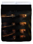 Steampunk - Pull The Switch Duvet Cover by Mike Savad