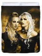 Steampunk Maidens Duvet Cover