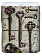 Steampunk - Old Skeleton Keys Duvet Cover