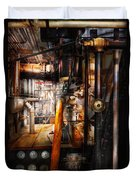 Steampunk - Plumbing - Pipes Duvet Cover