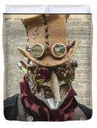 Steampunk Robot Duvet Cover
