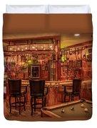 Steampunk Speakeasy Mancave Bar Art Duvet Cover