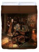 Steampunk - The Time Traveler 1920 Duvet Cover